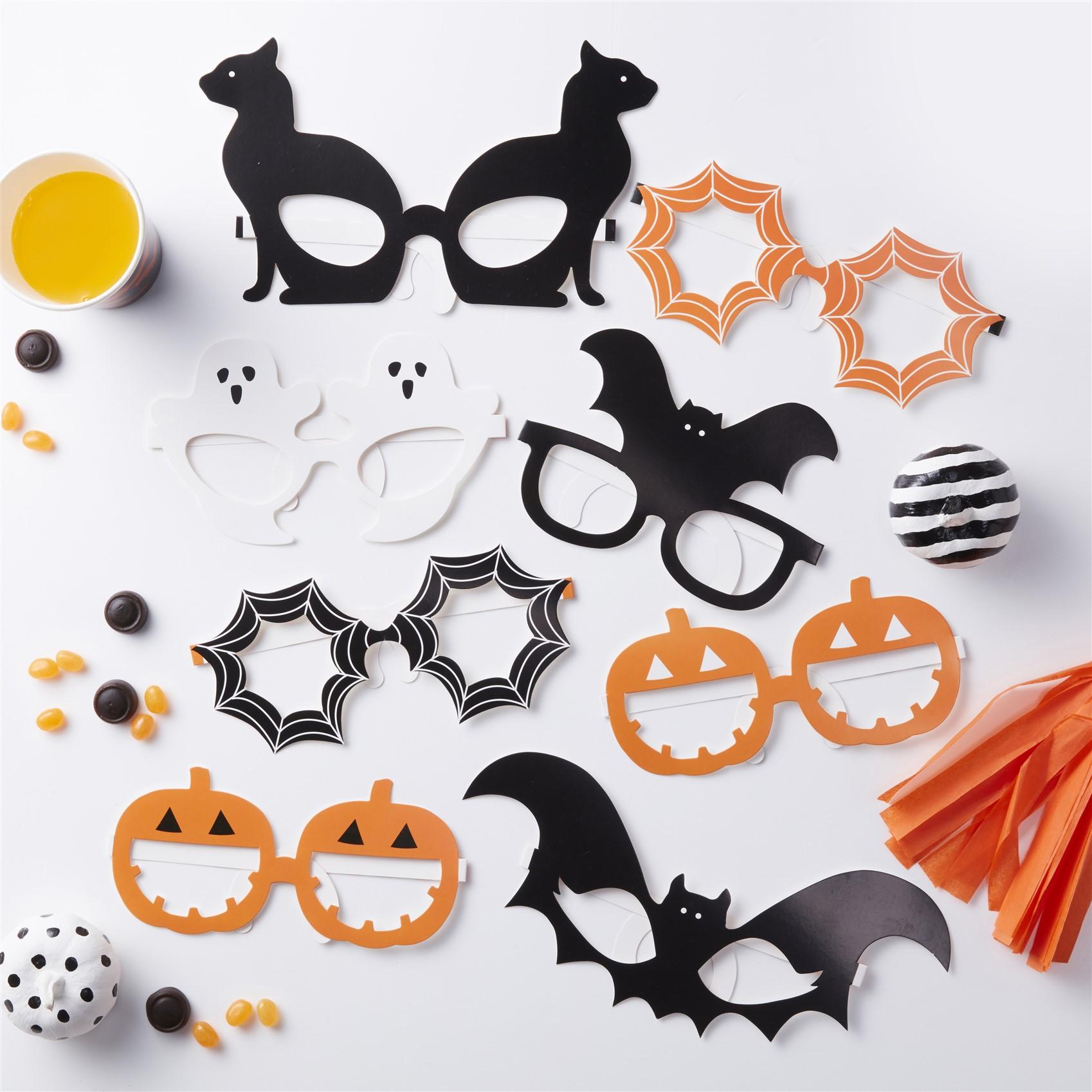Χάρτινα Γυαλιά Halloween – 8 Τεμάχια
