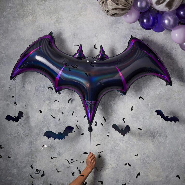 Μπαλόνι Foil Νυχτεριδα 130εκ & Κρεμαστές Νυχτεριδούλες