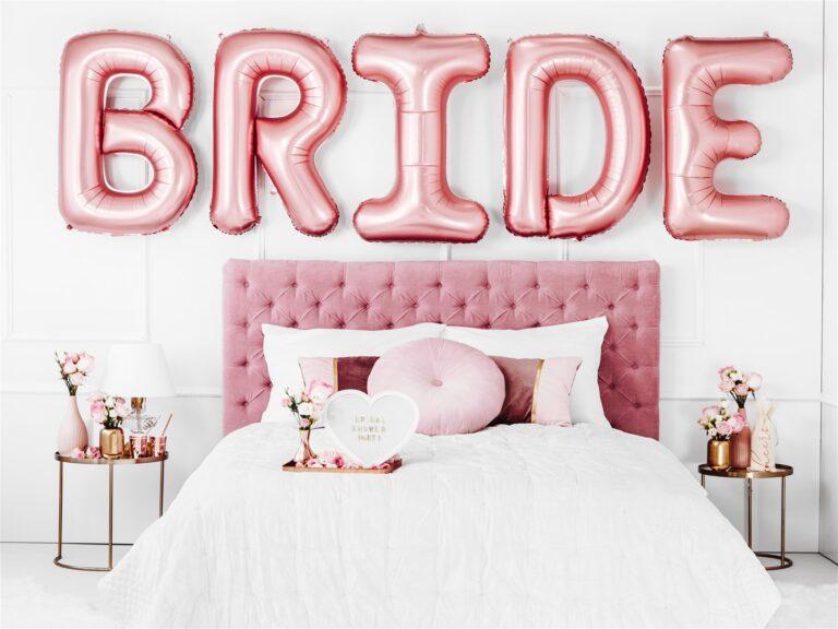 Σετ Μπαλόνια Γράμματα Bride Rose Gold