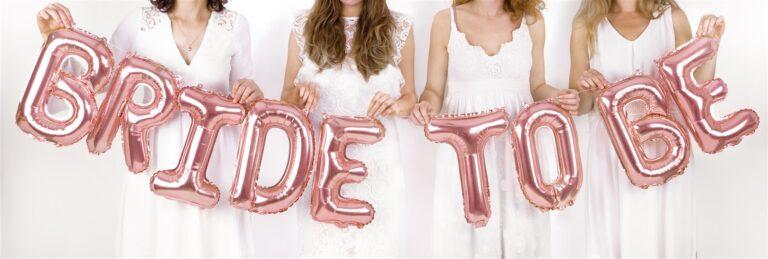 Σετ Μπαλόνια Γράμματα Bride to be Rose Gold