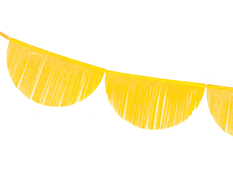 Χάρτινη Γιρλάντα με Κρόσια Κίτρινη