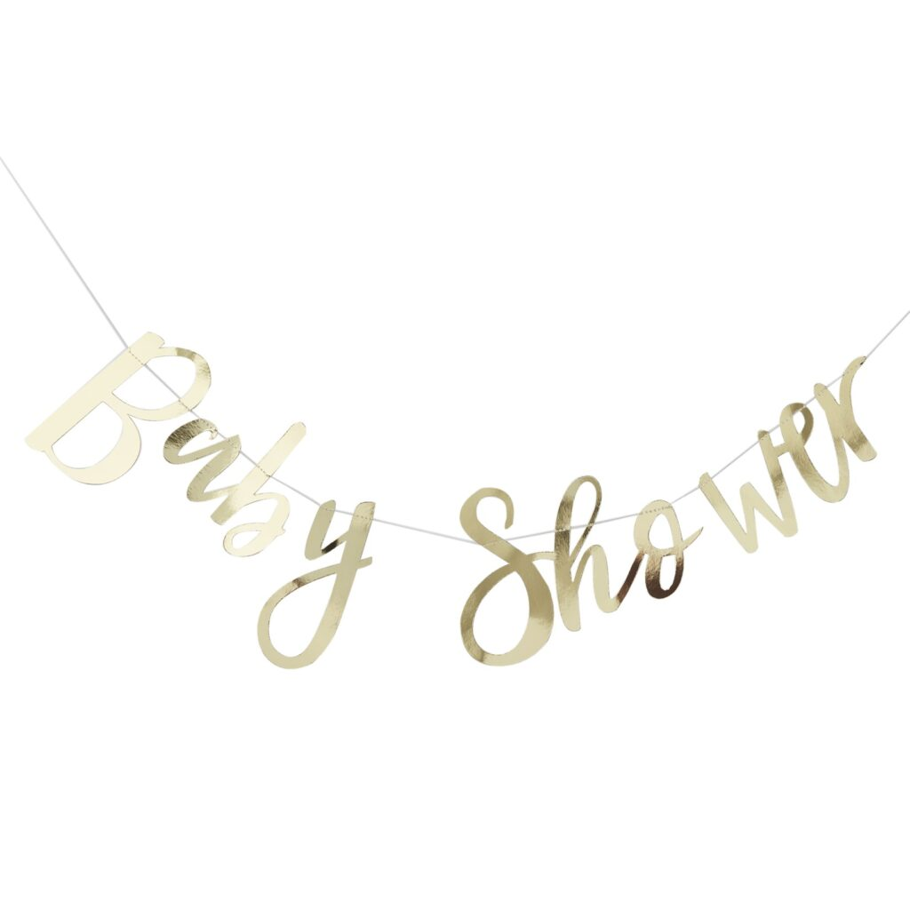 Χάρτινη Γιρλάντα Baby Shower Χρυσή