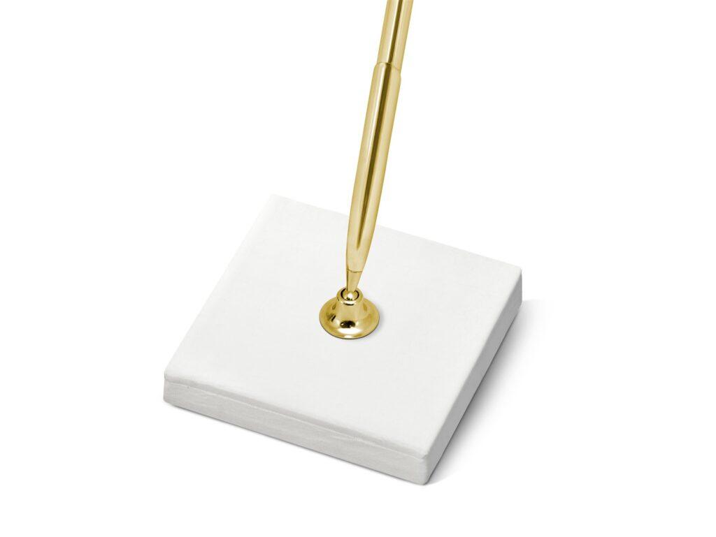 Χρυσό Στυλό Ευχών σε Κρεμ Βάση