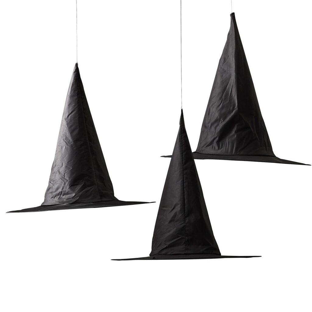 Κρεμαστά Διακοσμητικά Καπέλα Μαγισσών – 3 Τεμάχια