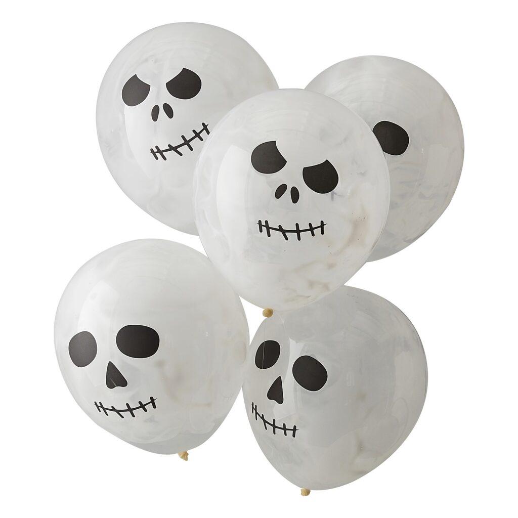 Μπαλόνια Halloween Skull – 5 Τεμάχια