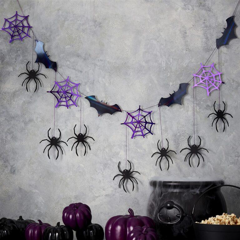Χάρτινη Foil Γιρλάντα Νυχτερίδες Αράχνες & Ιστοί