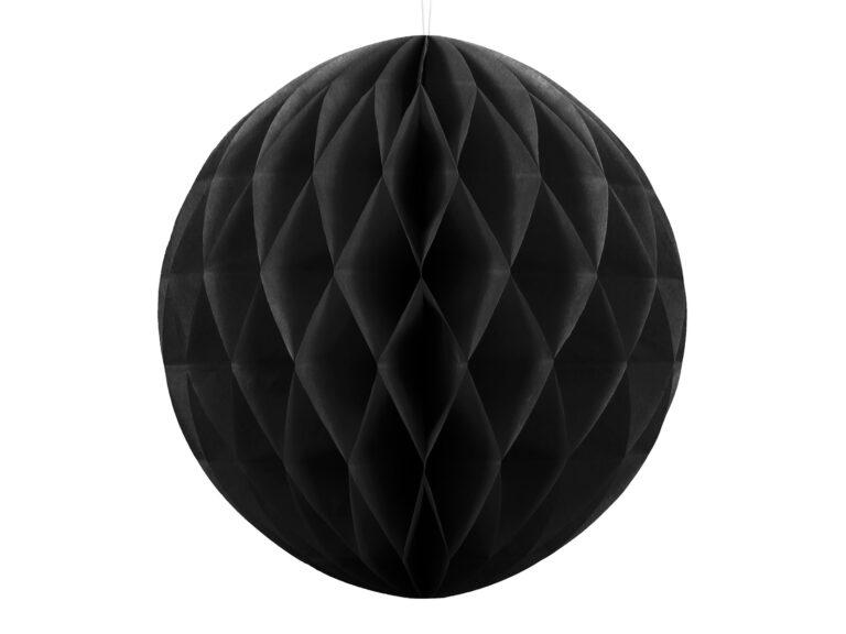 Χάρτινη Διακοσμητική Μπάλα Μαύρη 20εκ
