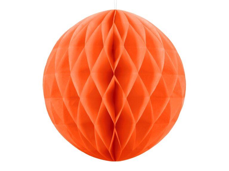 Χάρτινη Διακοσμητική Μπάλα Πορτοκαλί 20εκ