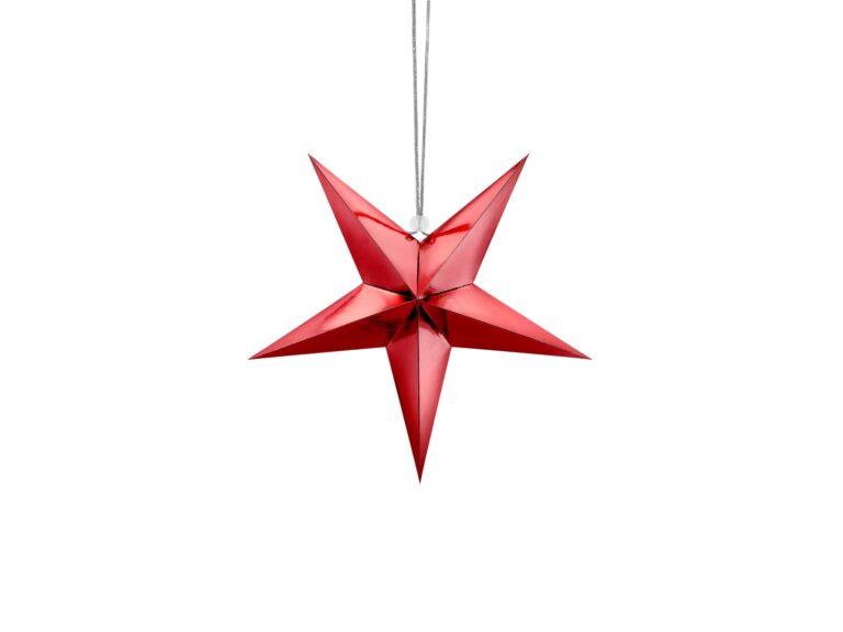 Χάρτινο Αστέρι Κόκκινο 30εκ