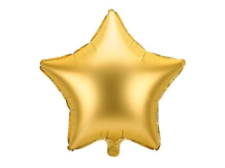 Μπαλόνι Foil Χρυσό Ματ Αστέρι 48εκ