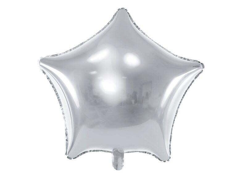 Μπαλόνι Foil Ασημί Αστέρι 48εκ