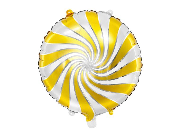 Μπαλόνι Foil Candy 'Ασπρο Χρυσό 35εκ