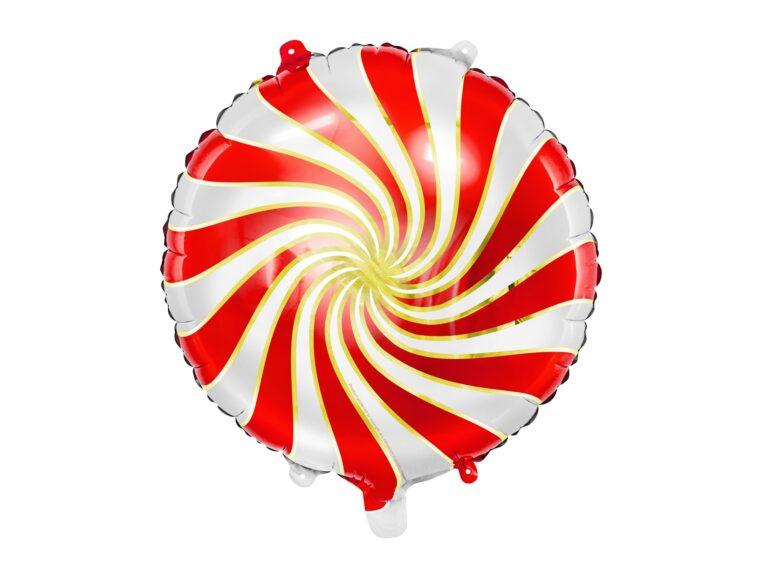 Μπαλόνι Foil Candy 'Ασπρο Κόκκινο 35εκ