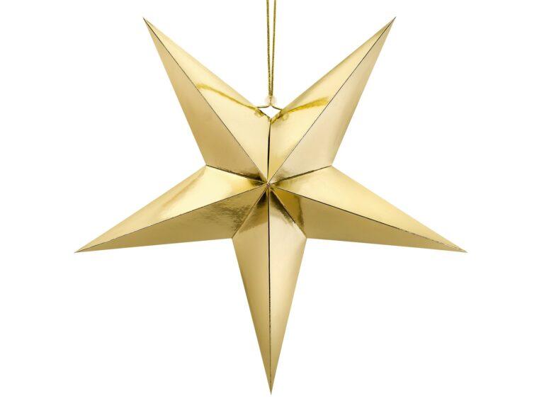Χάρτινο Αστέρι Χρυσό 70εκ