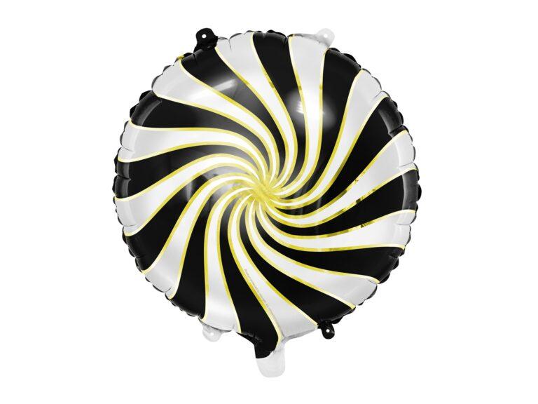 Μπαλόνι Foil Candy 'Ασπρο Μαύρο 35εκ