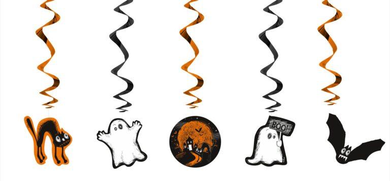 Κρεμαστά Διακοσμητικά Halloween BOO 5 Τεμάχια