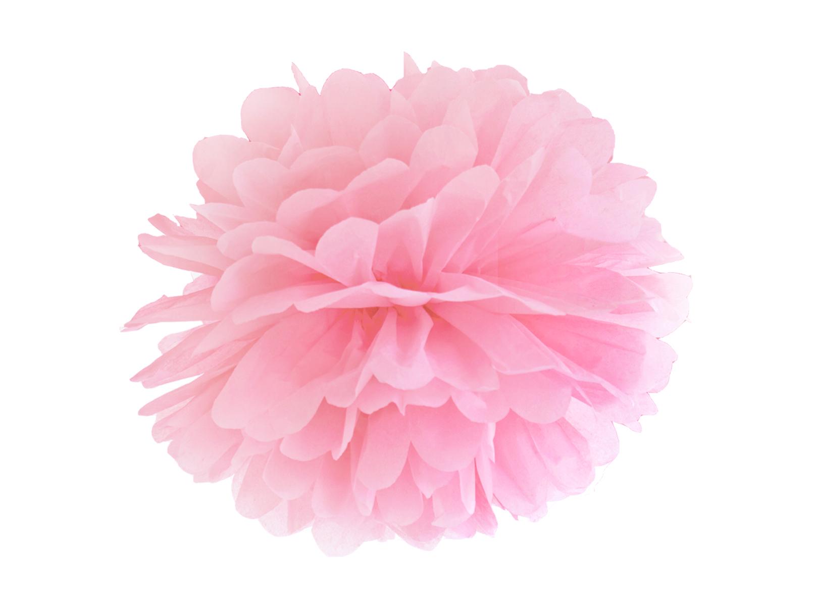 Χάρτινα Ροζ Pom Pom 35εκ