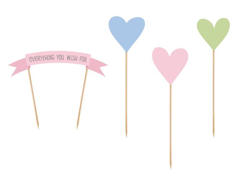 Χάρτινα Διακοσμητικά Τούρτας Pastelove – 4 Τεμάχια