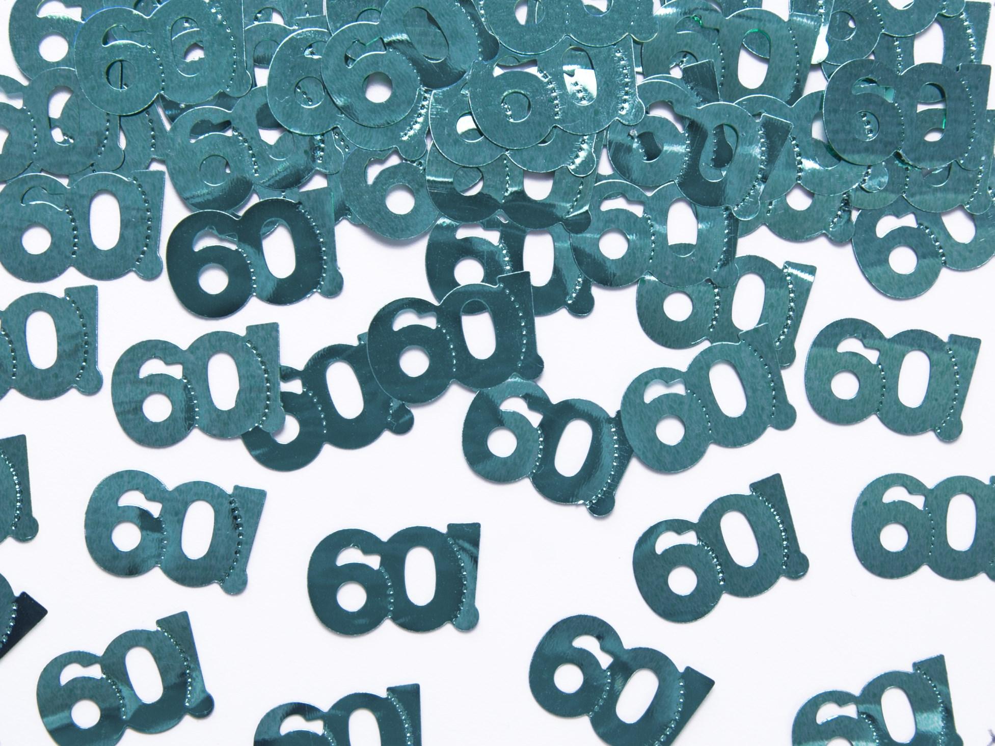 Κονφετί 60! Πετρόλ Χρώματος – 15 Γραμμάρια