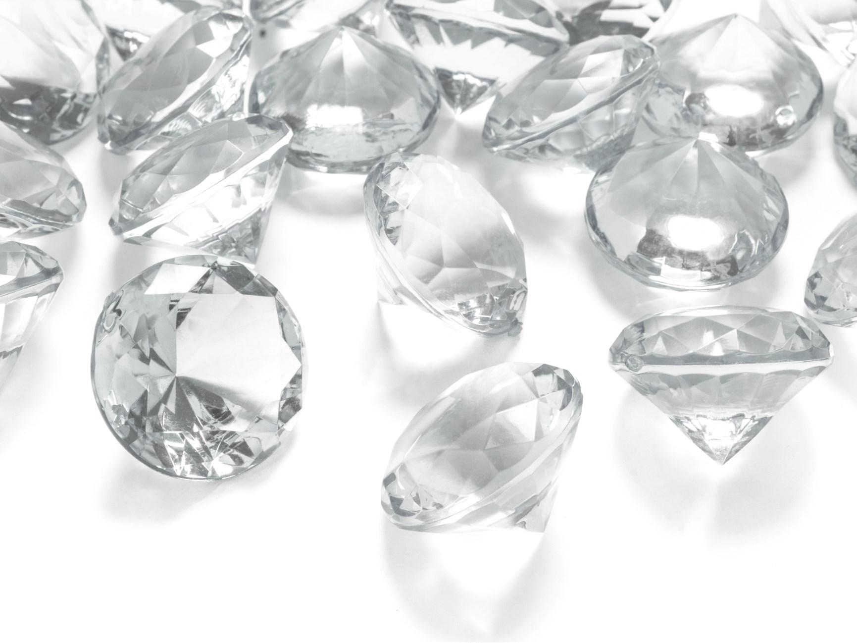 Κρυσταλλάκια σε Σχήμα Διαμαντού Διάφανα 30χλστ – 5 Τεμάχια