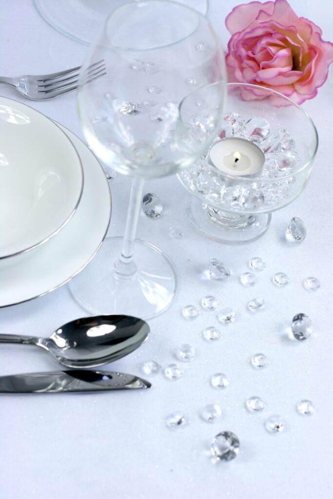 Κρυσταλλάκια σε Σχήμα Διαμαντού Διάφανα 12χλστ – 100 Τεμάχια