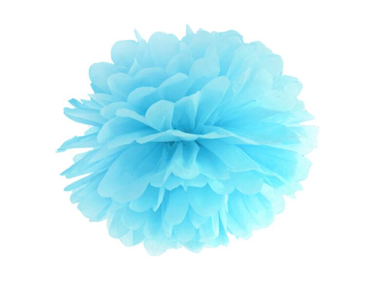 Χάρτινα Γαλάζια Pom Pom 35εκ