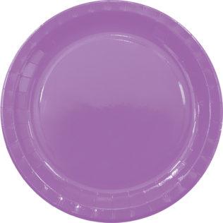 Χάρτινα Πιάτα Μωβ 23εκ – 8 Τεμάχια