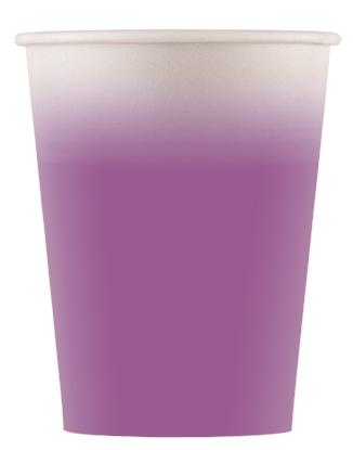 Χάρτινα Ποτήρια Μωβ 200ml – 8 Τεμάχια