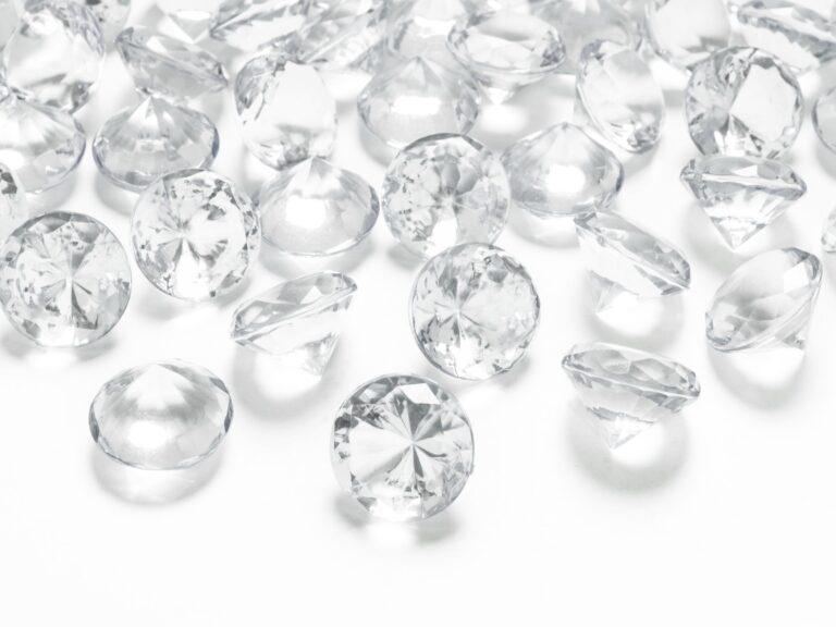 Κρυσταλλάκια σε Σχήμα Διαμαντού Διάφανα 20χλστ – 10 Τεμάχια