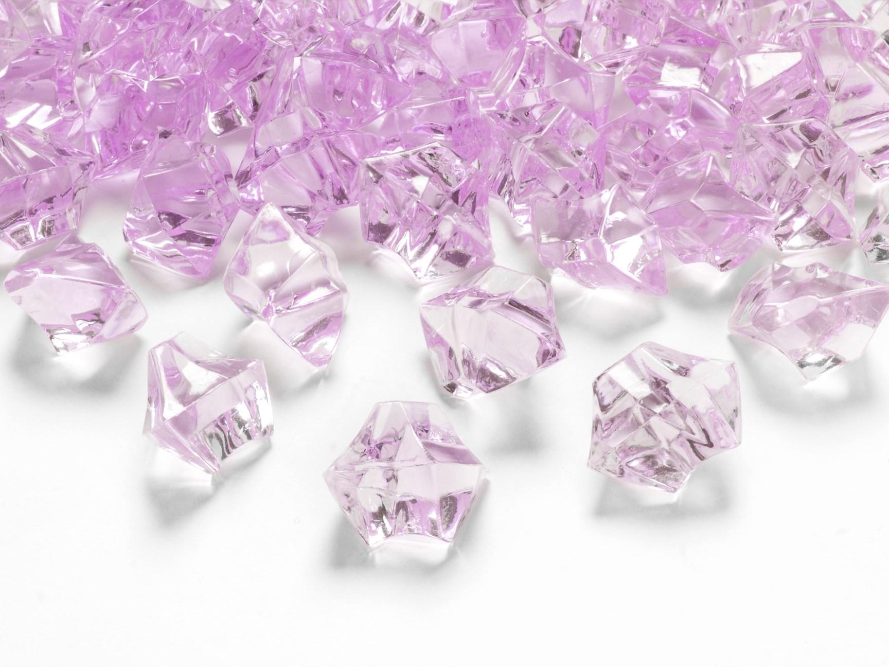 Κρυσταλλάκια Ροζ 25×21χλστ – 50 Τεμάχια