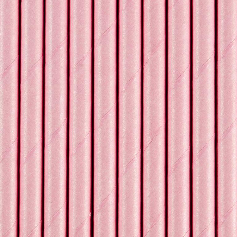 Χάρτινα Καλαμάκια Ροζ – 10 Τεμάχια