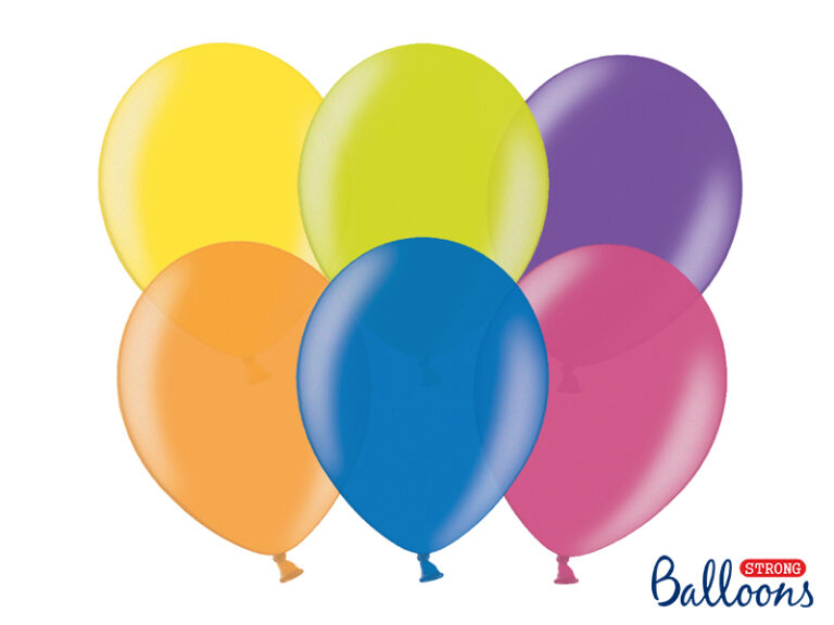 Μπαλόνια Latex Χρωματιστά 27εκ – 10 Τεμάχια