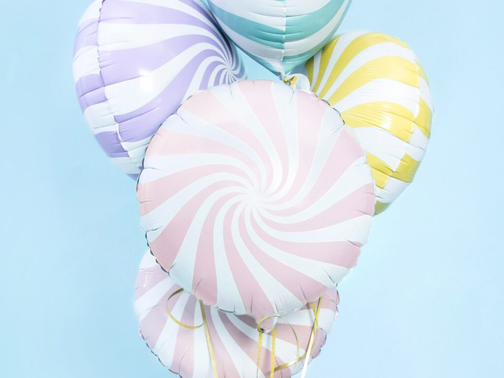 Μπαλόνι Foil Candy 'Ασπρο Ροζ 45εκ