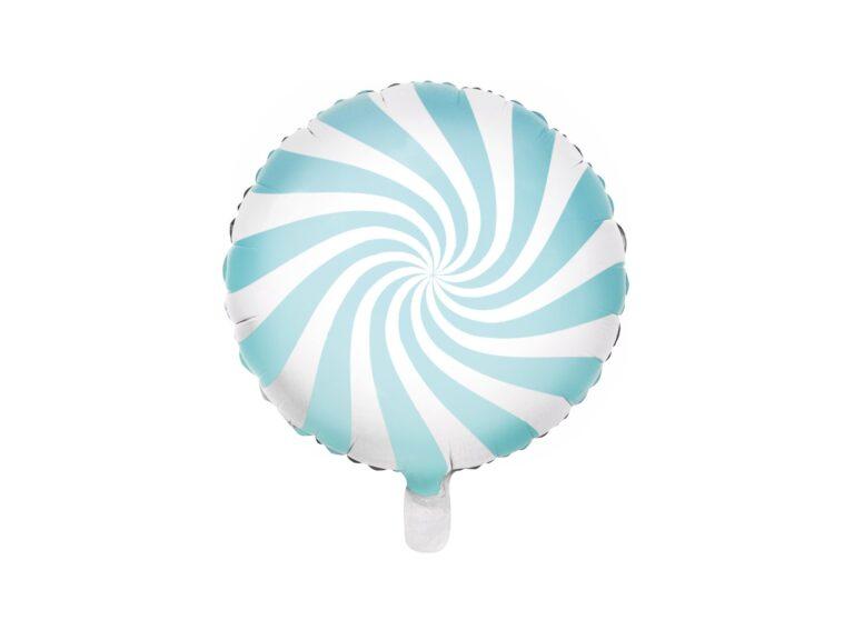 Μπαλόνι Foil Candy 'Ασπρο Γαλάζιο 45 εκ