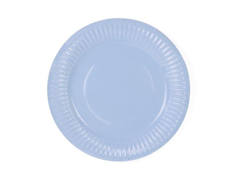 Χάρτινα Πιάτα Γαλάζια 18εκ – 6 Τεμάχια