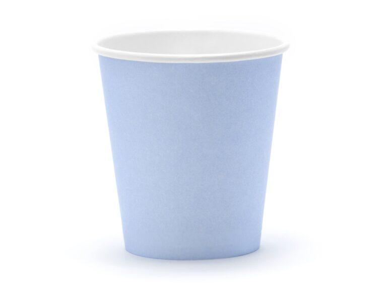 Χάρτινα Ποτήρια Γαλάζια 180ml – 6 Τεμάχια