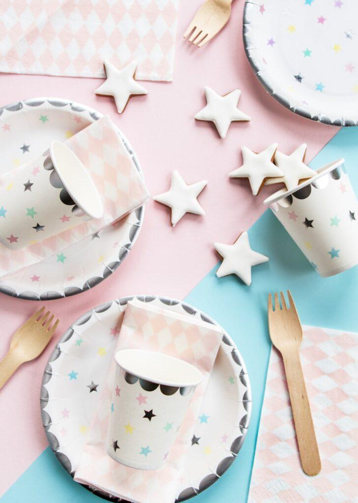 Χάρτινα Πιάτα Little Stars 18εκ – 6 Τεμάχια