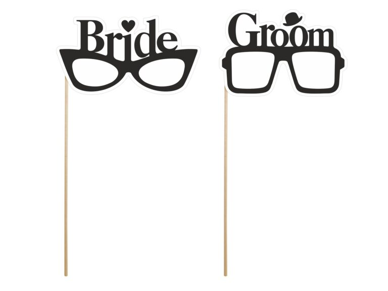 Photo Booth Props Γυαλιά Bride & Groom – 2 Τεμάχια
