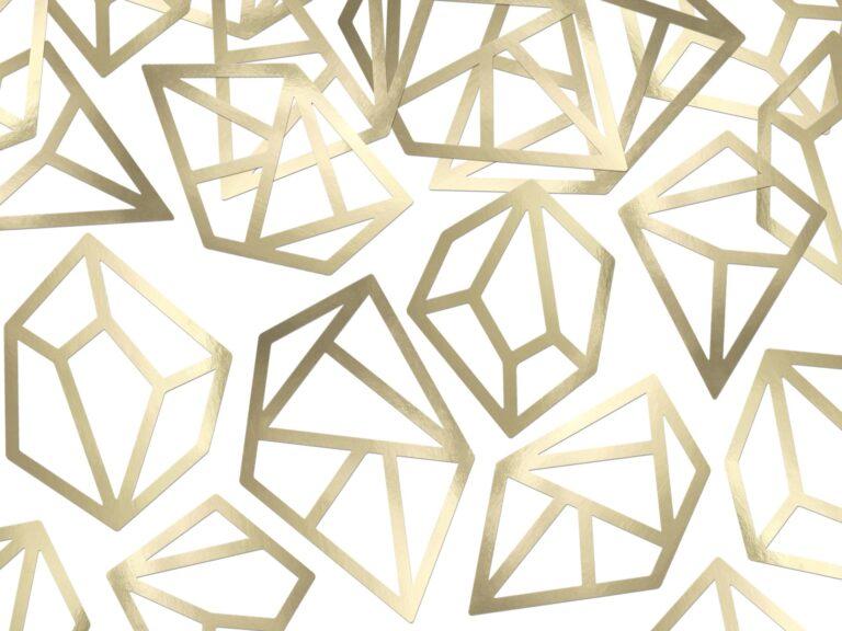 Χάρτινα Διαμάντια Χρυσά – 5 Τεμάχια