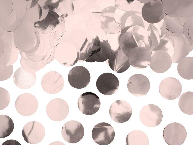 Κονφετί Foil Ροζ Χρυσό – 15 Γραμμάρια