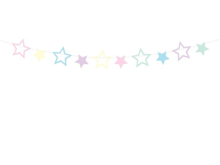 Χάρτινη Γιρλάντα Pastel Stars
