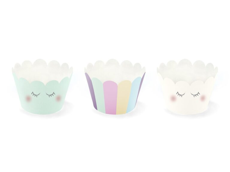 Χάρτινες Διακοσμητκές Θήκες Cupcakes Unicorn – 6 Τεμάχια