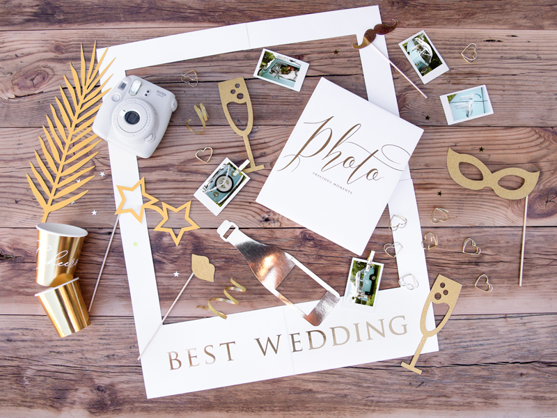 Photo Booth Props Gold – 8 Τεμάχια