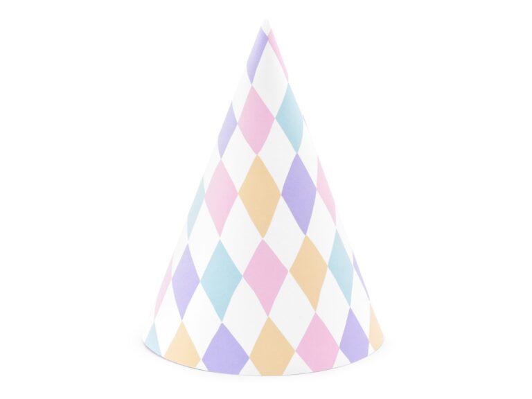 Χάρτινα Καπελάκια Χρωματιστά – 6 Τεμάχια