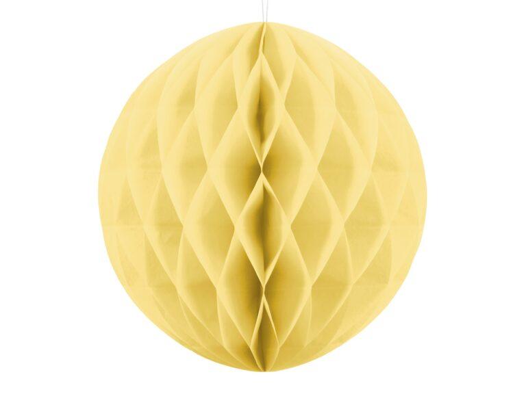 Χάρτινη Διακοσμητική Μπάλα Απαλό Κίτρινο 30εκ
