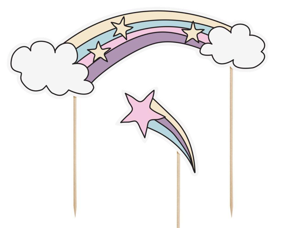 Χάρτινα Διακοσμητικά Στικ Unicorn – 5 Τεμάχια