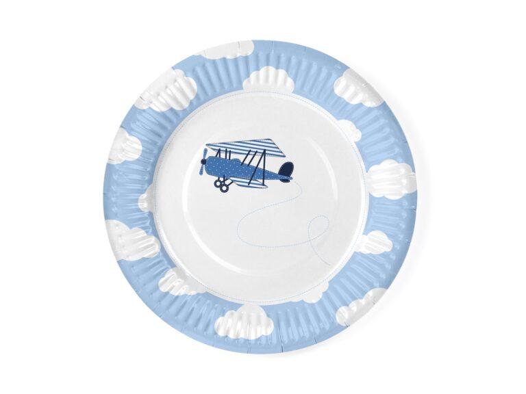 Χάρτιινα Πιάτα Little Plane 18εκ – 6 Τεμάχια