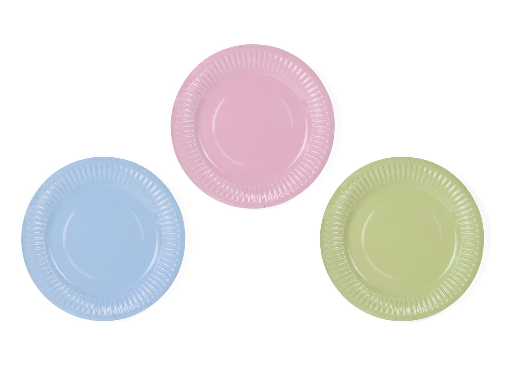 Χάρτιινα Πιάτα Pastelove 18εκ – 6 Τεμάχια