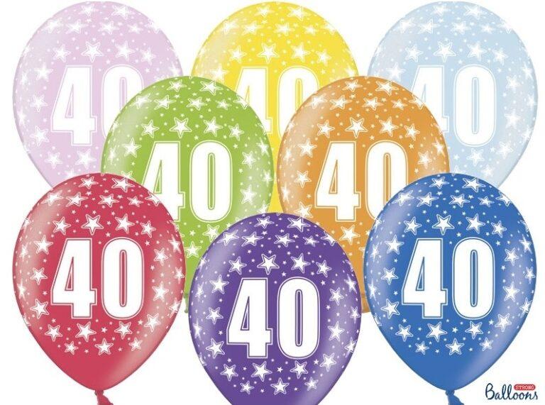 Μπαλόνια Latex 40s – 6 Τεμάχια