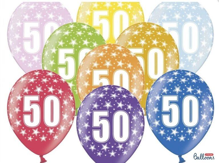 Μπαλόνια Latex 50s – 6 Τεμάχια